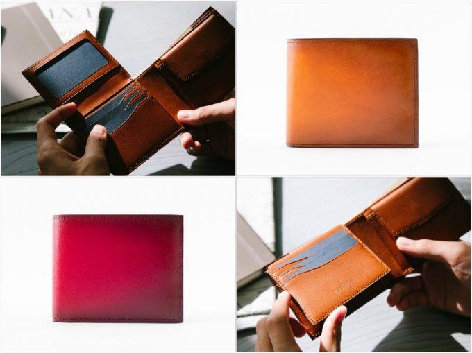 YPF136二つ折り財布の各部写真
