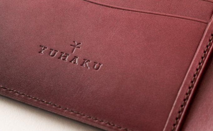 YVE140札入れの内装のyuhakuロゴ