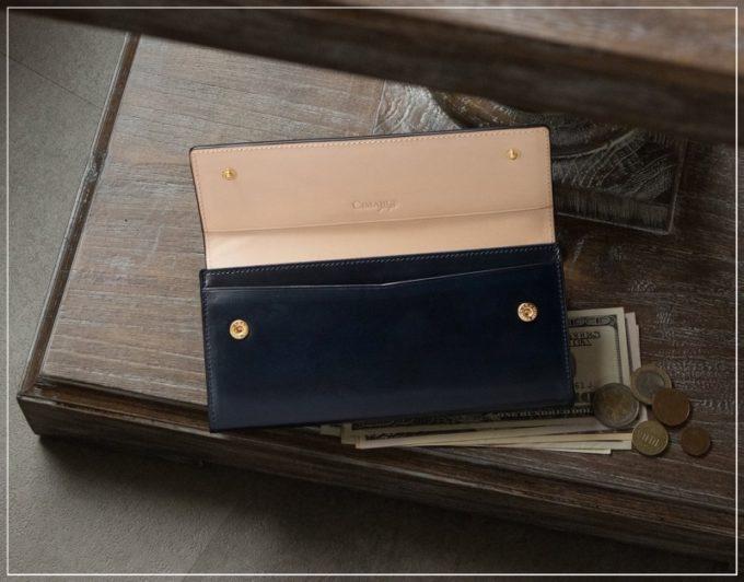チマブエグレースフル・アニリン染めコードバンシリーズの財布