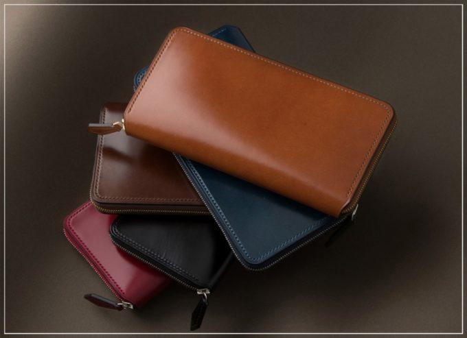 クレバレスコ・アニリン染めコードバンの財布