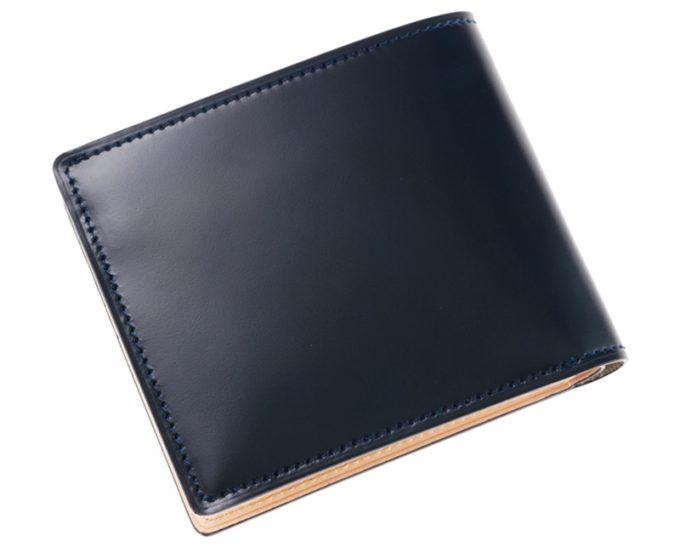 二つ折り財布(ベロ・小銭入れ付き)新コードバン&フルベジタブルタンニン