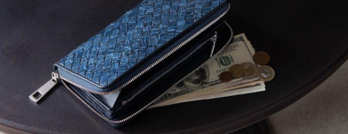 レザックのイントレチャートデザインの長財布