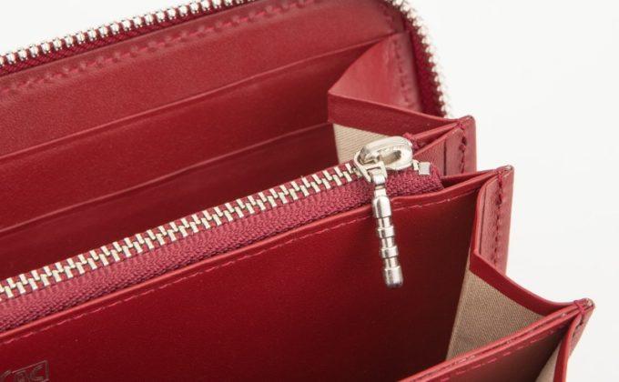 オイルエレファント・ラウンドジップ長財布の内装のカウハイド(牛革)