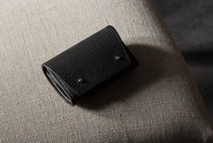 アドリアレザーミニ財布(ブラックカラー)