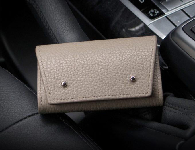 アドリアレザーミニ財布(オークベージュカラー)