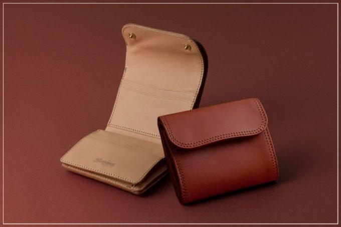 ツラネ(Tsurane)・Wホック&Wステッチミニ財布(S)