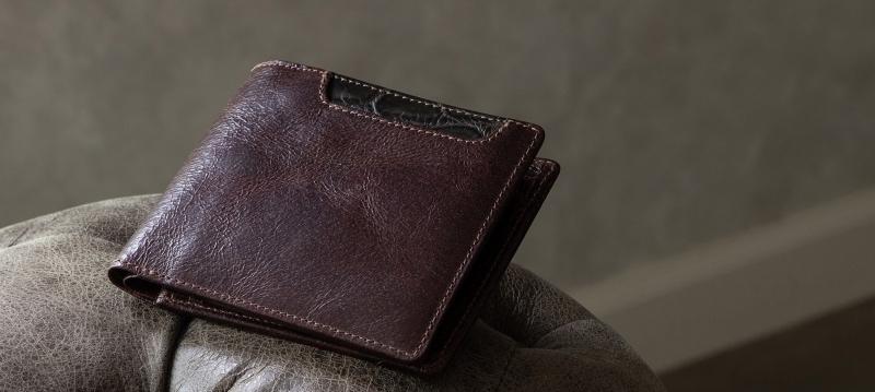 外装カードポケット付き二つ折り財布・三つ折り財布