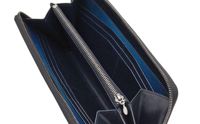 YEV114ラウンドファスナーウォレットの収納ポケット