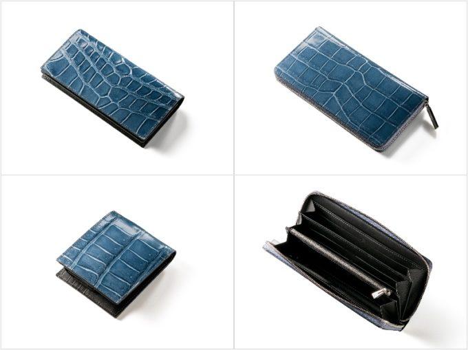 ココマイスター・クロコダイルシリーズの各種財布