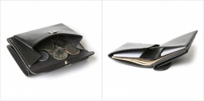 MOTO W9 ミニウォレットの小銭入れとカードポケットお札ポケット