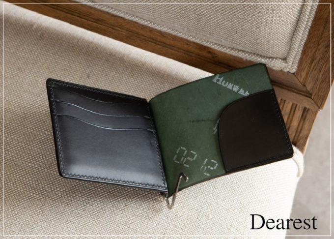 Dearest(ディアレスト)・シェルコードバン マネークリップ #K01