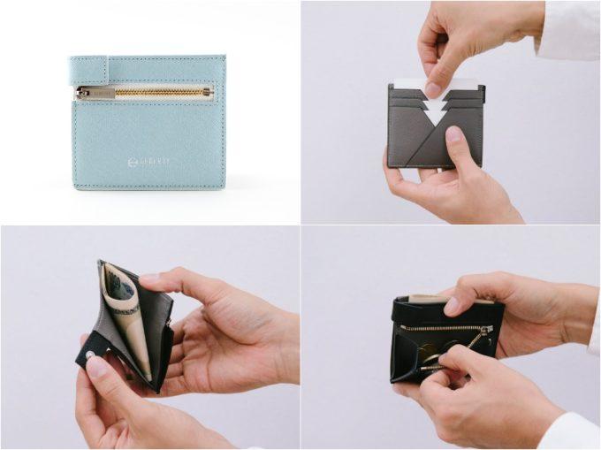 コンパクト二つ折り財布の各部