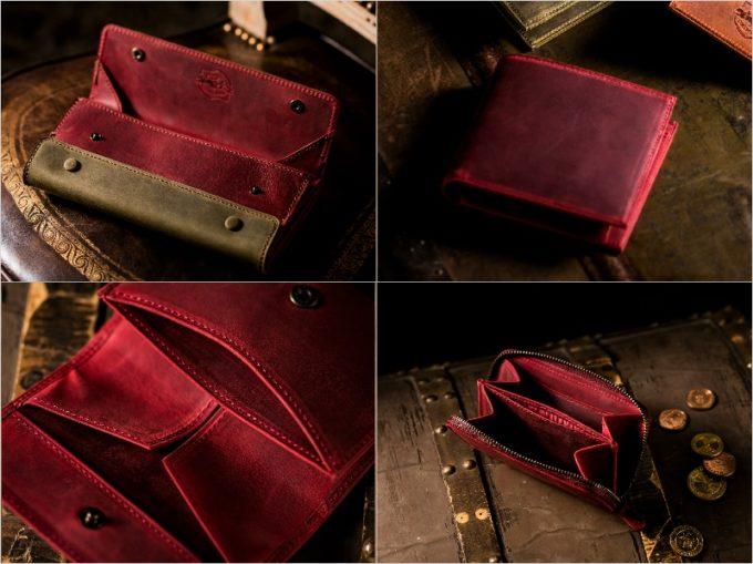 ナポレオンカーフシリーズの各種財布