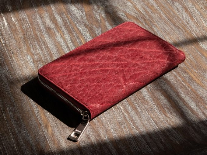 LE'SAC(レザック)・オイルエレファントシリーズの財布(レッド)