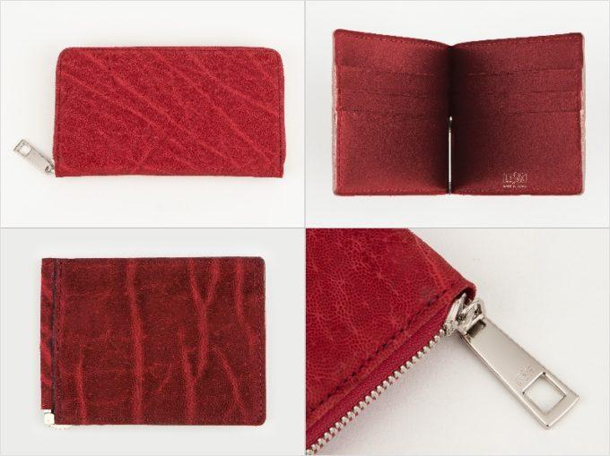 オイルエレファントシリーズの財布(レッド)の各種財布