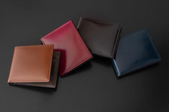 アーキライン二つ折り財布(艶有り)のカラーバリエーション