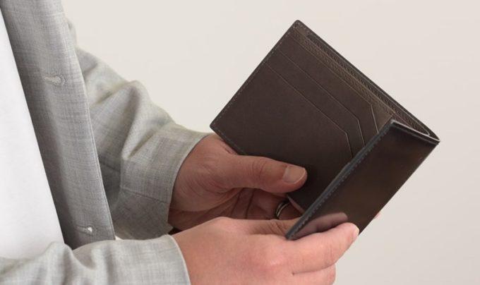アーキライン二つ折り財布(艶有り)