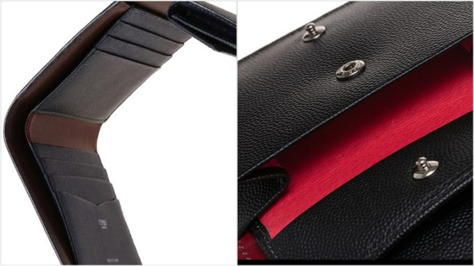 三つ折り財布(キプリス)の各部