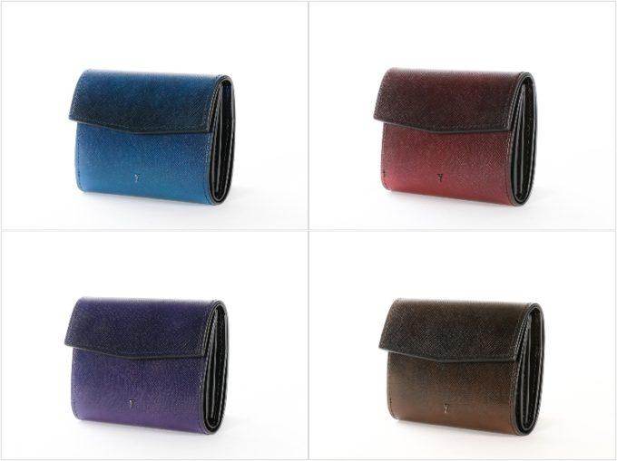 三つ折りコンパクトウォレットの各カラー