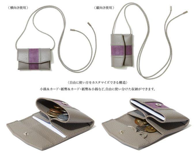 セルフミニ財布のポケットの使用例