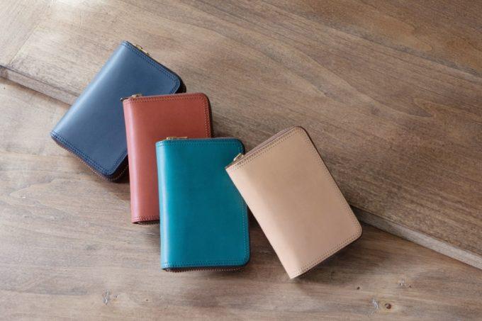 ミニラウンドジップ財布のカラーバリエーション