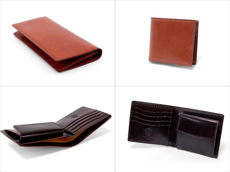 CORDOVAN LUCIDA(コードバンルチダ)シリーズの各財布(抜粋)