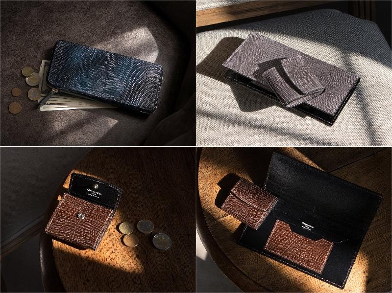 クレバレスコ・リザードシリーズの各種財布