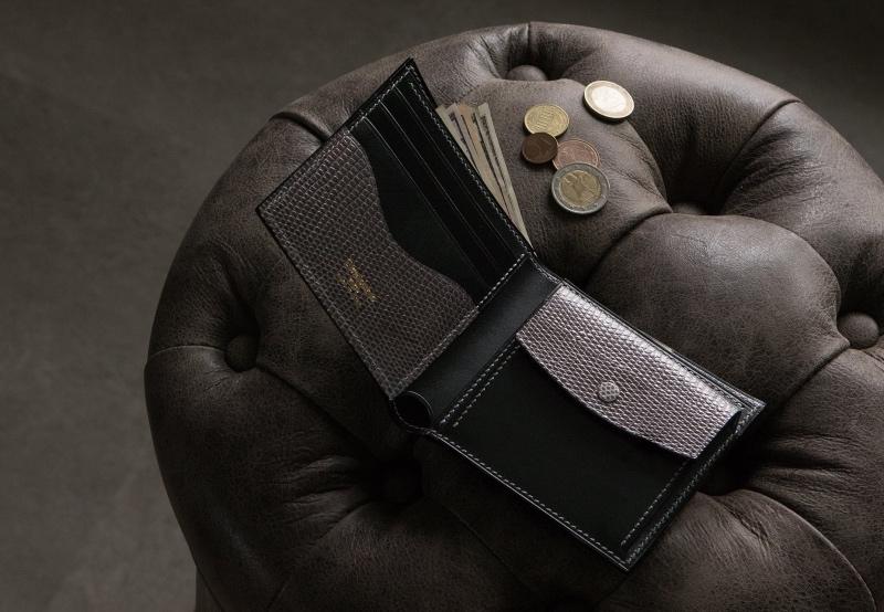 クレバレスコ・ブリランテ×リザードシリーズの二つ折り財布