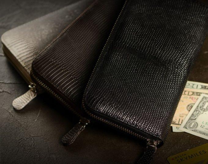 東京クロコダイル・リザードシリーズのラウンドファスナー長財布