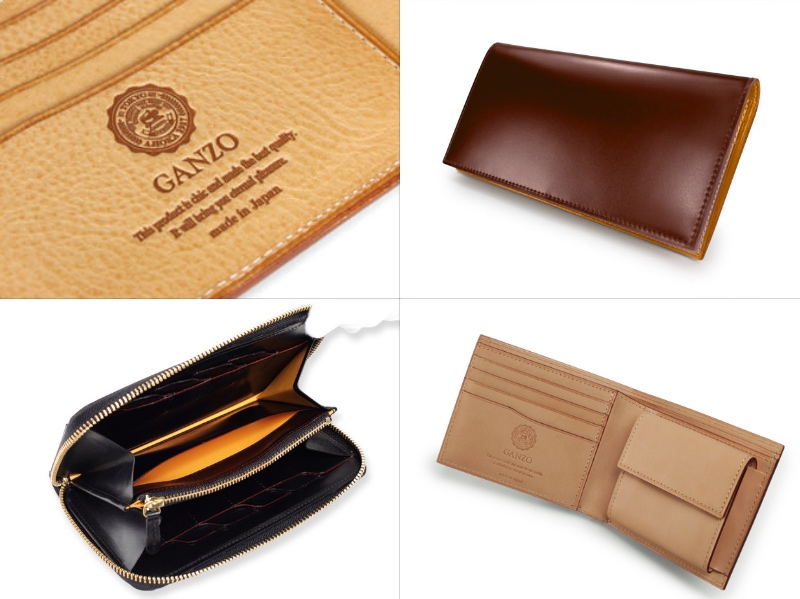 ガンゾのロゴと各財布