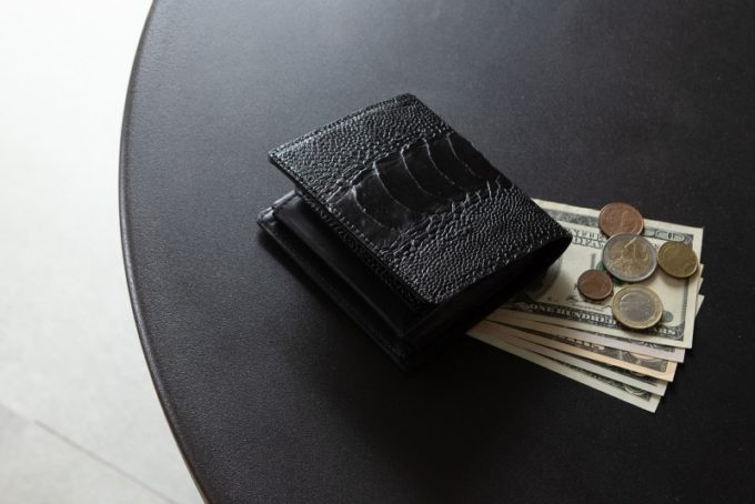 オーストリッチレッグ(ダチョウの脚革)の財布