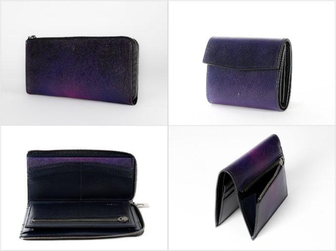 エヴォ(EVO)シリーズの各種財布(パープル)