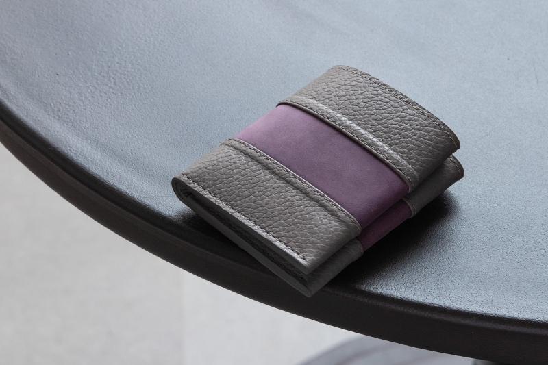 マサミタナカ・二つ折り財布&セルフミニ財布(バイオレットパープル)
