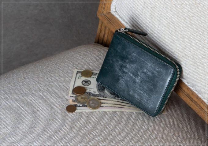 チマブエ・ブライドルラウンドジップ二つ折り財布