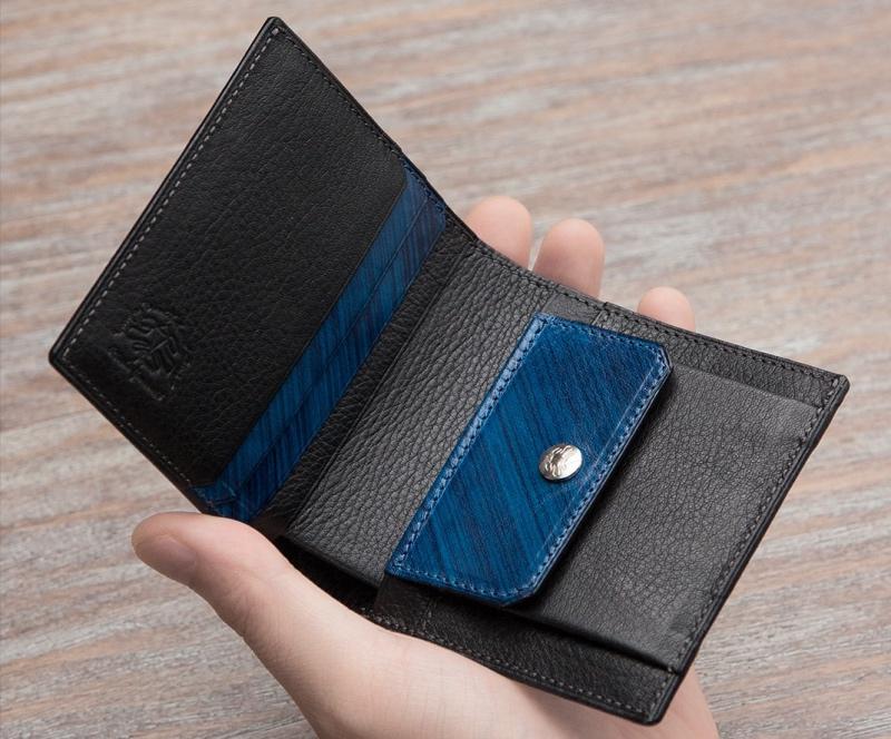刷毛染めコンパクト財布(アツシヤマモト)