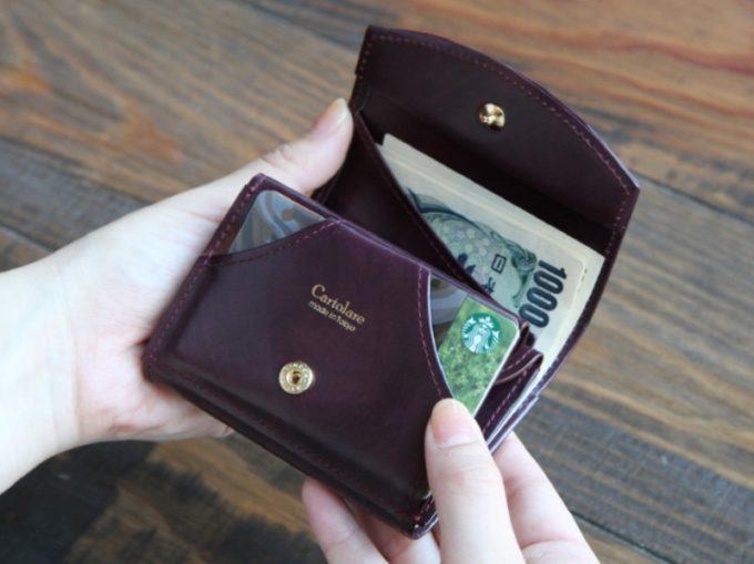 ハンモックウォレットクラシコのカードポケット