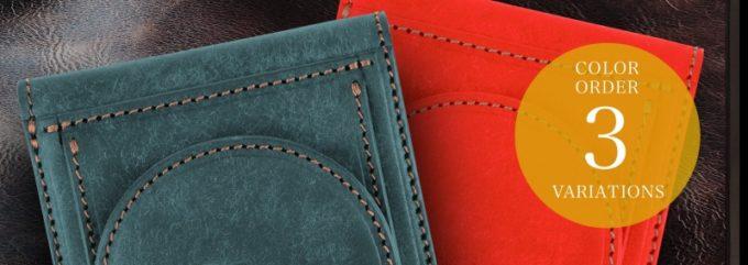 プエブロ二つ折り財布の特別カラー