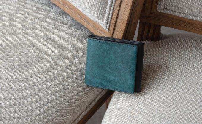 ニブール・プエブロ&リスシオショート財布(ブルー×ブラックカラー)