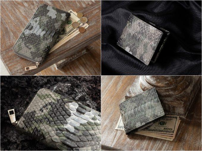 レザック・パイソン革財布の各財布と各部