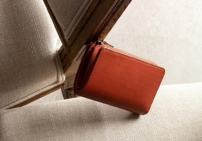 Wステッチショート財布