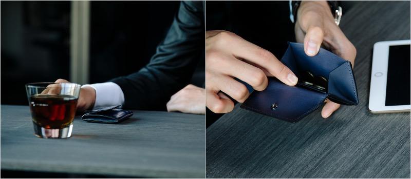 YVE150コインケースの外装と内装ポケット