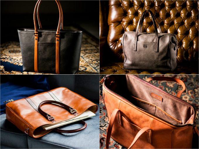 ココマイスターのトート型鞄の各種類