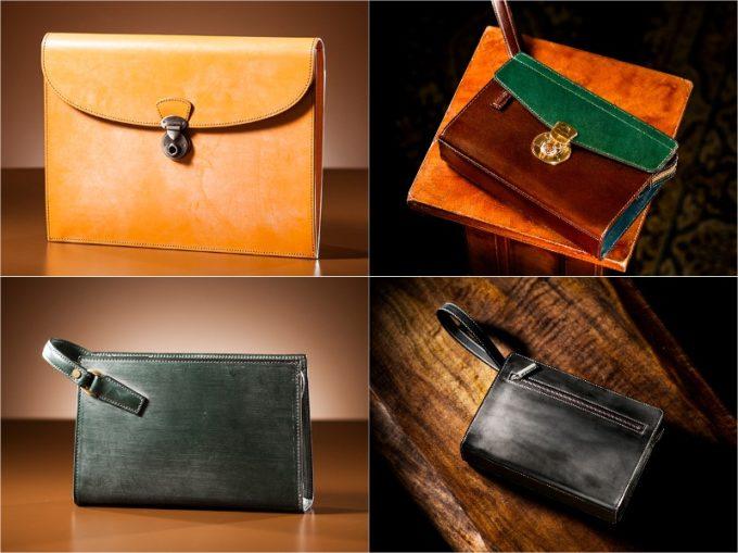 ココマイスターのセカンド鞄(クラッチバッグ)の各種類