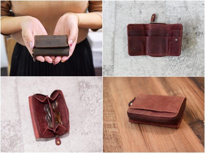 tinyミニ財布本革三つ折りコンパクト