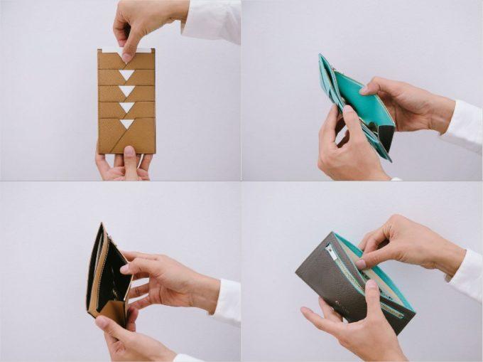 ASP121orASB121フラッププレス長財布の各部