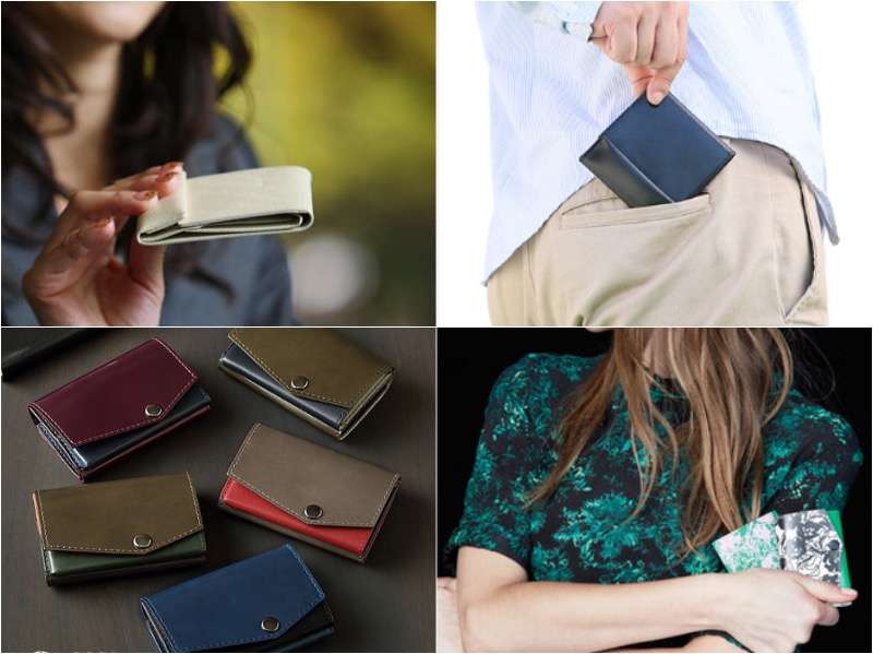 レディース用とメンズ用の薄い財布と小さい財布