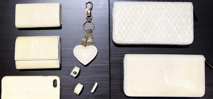 バハリ・ガルーシャ革財布(ホワイトカラーの財布)