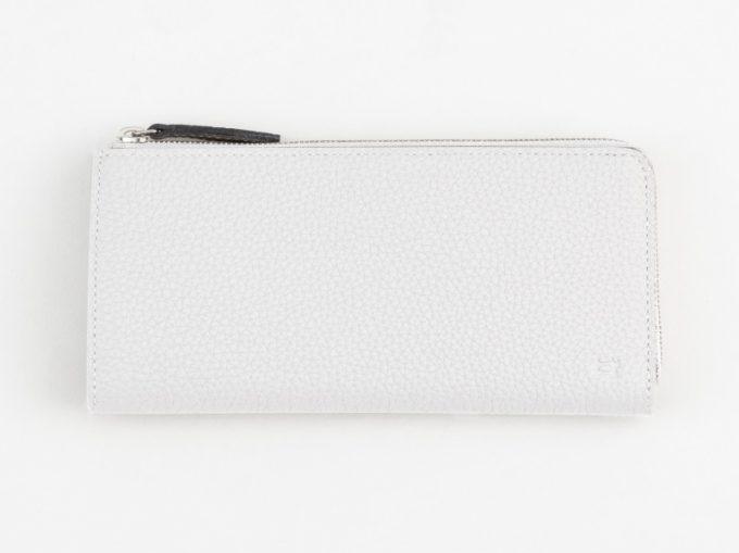 レディオアオーダー・シュランケンカーフL字ジップ長財布(ホワイトカラー)