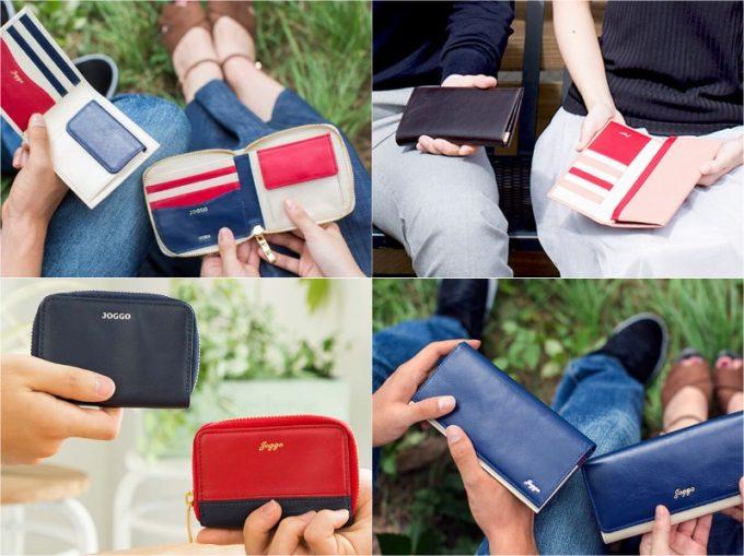 JOGGO(ジョッゴ)のペアの二つ折り財布や長財布を持つ男女