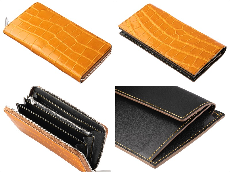 クロコダイルシリーズのマタドールカラーの財布各種